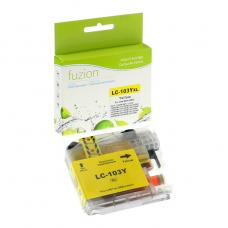 Compatible Brother LC101 LC103 XL Jaune Fuzion (HD)